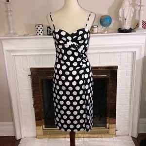 🌹Donna Ricco New York polka dot stretch dress